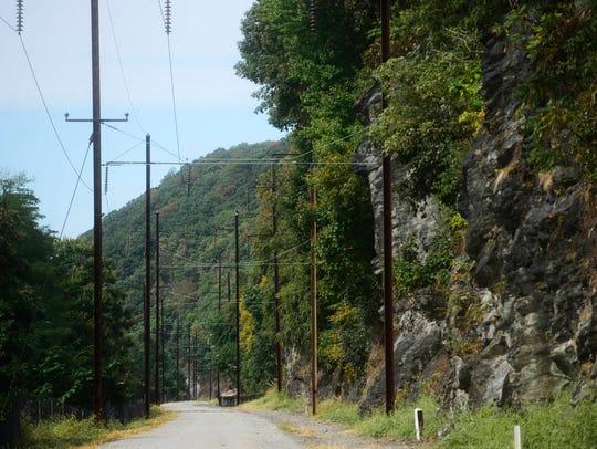 The Enola Low Grade Rail Trail winds along the Susquehanna