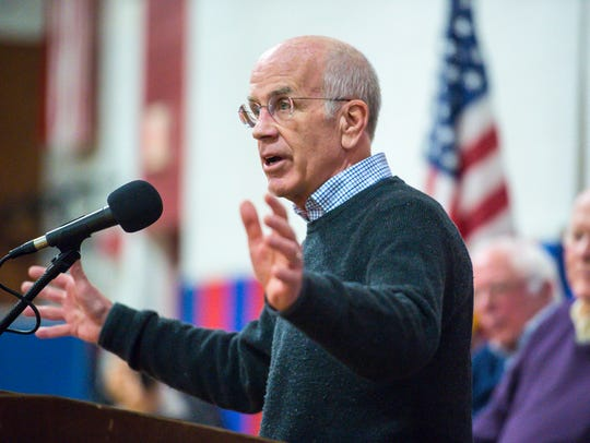 U.S. Rep. Peter Welch speaks during a town hall meeting