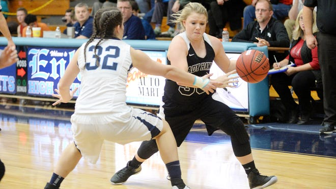 The Enka and North Buncombe girls played Dec. 20 in Candler.