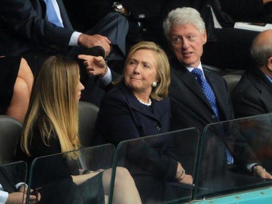 Bill clinton right former secretary of state hillary clinton