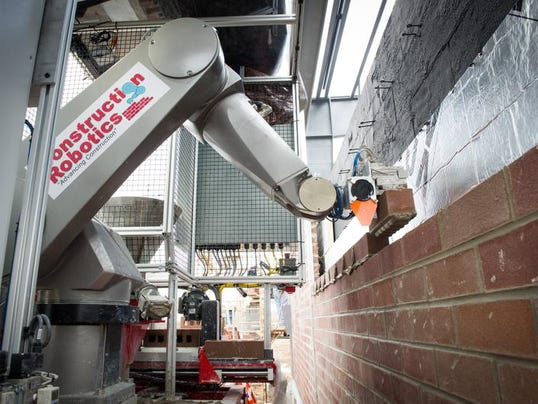Brick Laying Robot On The Job In Victor