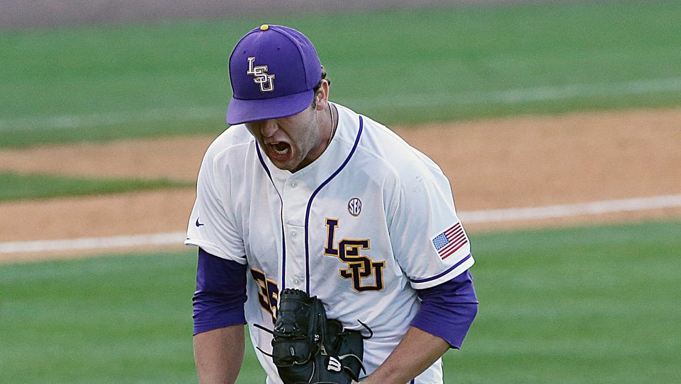LSU freshman pitcher Alex Lange, who is 10-0 on the