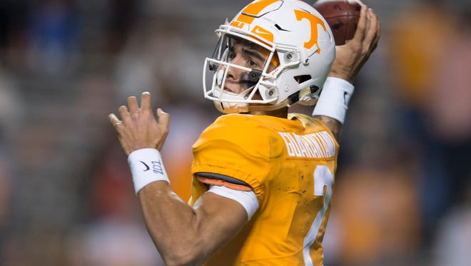Tennessee quarterback Jarrett Guarantano