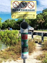 Clear Your Gear bins collect fishing line to keep it