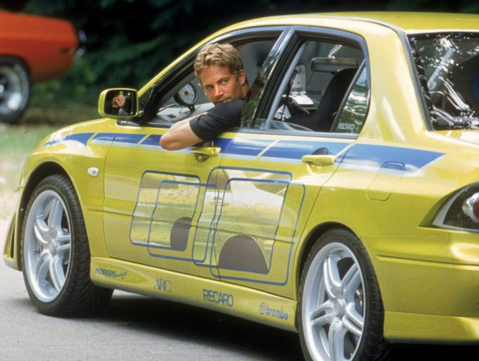 Paul Walker And The Cars Of The Fast And Furious Films