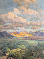 Untitled, (Nevada), not dated Oil on board, 48 x 36
