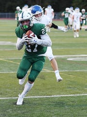 Northern Valley Regional High School Demarest at Ramapo High School on Friday, September 15, 2017. R #27 Max Baker scores a touchdown in the first quarter.