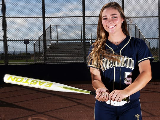 Coronado graduating senior Abigail Carney is the El Paso Times All-City softball Player of the Year.