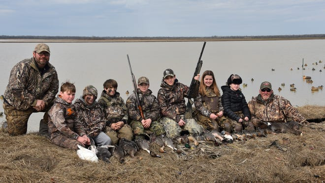 These are some of the young hunters that benefited from duck hunters giving back.