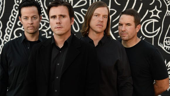 Rock band Jimmy Eat World will perform at Downtown's Tricky Falls on Saturday.