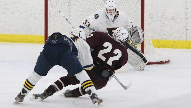 Pelham hockey beat Scarsdale 8-2 at the Ice Hutch Jan. 12, 2017.