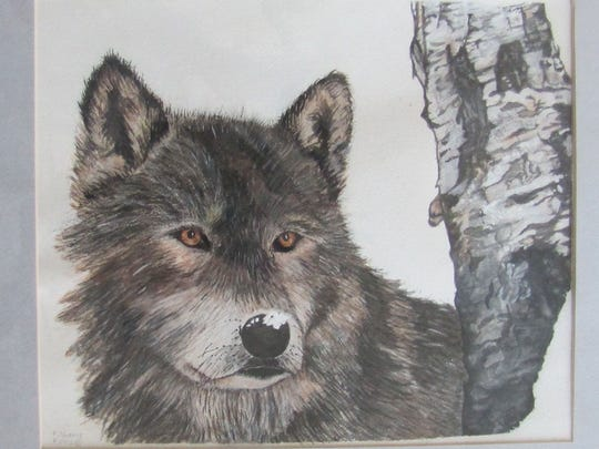 """""""Wolf"""" by Florence Thoms, part of the exhibit opening March 21 at Meadows Art Gallery in Sister Bay."""