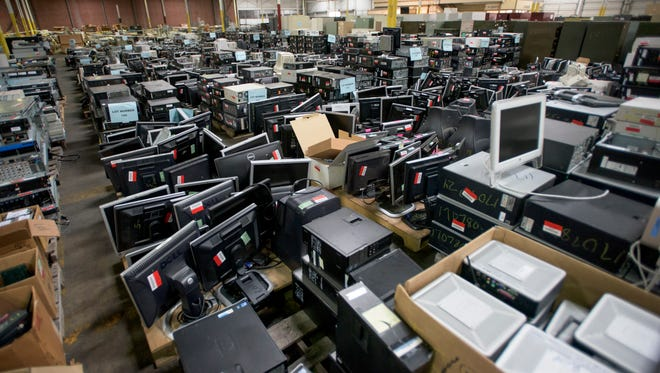 The state surplus auction is held at the ADECA  warehouse in Montgomery, Ala. on Wednesday February 15, 2017.