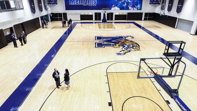 Donors get their first look at the University of Memphis' new state of the art Laurie-Walton Family Basketball Center during a ribbon-cutting ceremony on Park Avenue Campus.