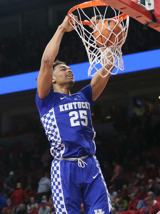 USP NCAA BASKETBALL: KENTUCKY AT ARKANSAS S BKC KAN KEN USA AR