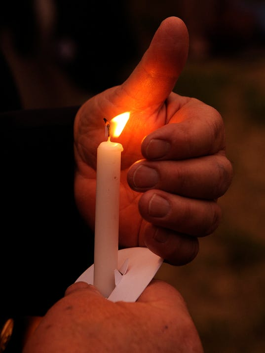 Candlelight vigil for Orlando