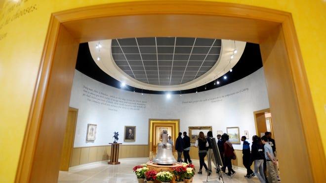 Ridgewood Middle School students explore the R.W. Norton Art Gallery.