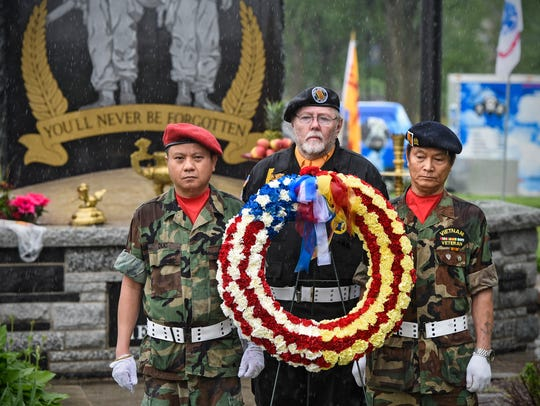 A wreath ceremony is part of the Vietnamese Community