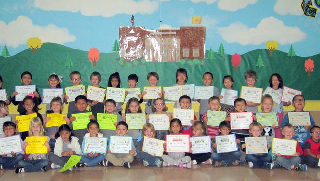 Students received awards in mathematics and reading at Nob Hill Early Childhood Center.