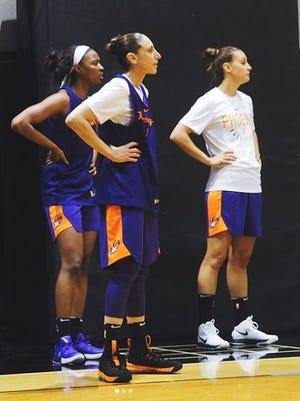 Diana Taurasi and the Phoenix Mercury opened their WNBA training camp on Monday, April 30, 2018.