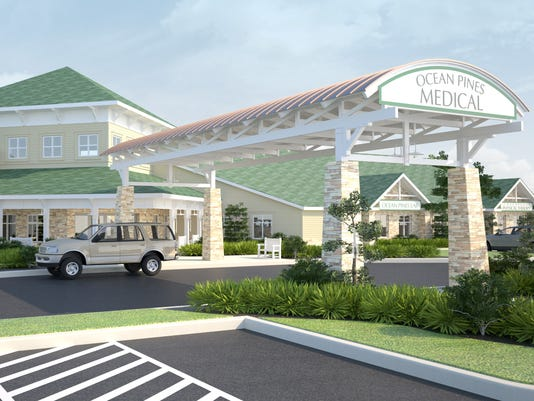 Ocean pines medical facility rendering