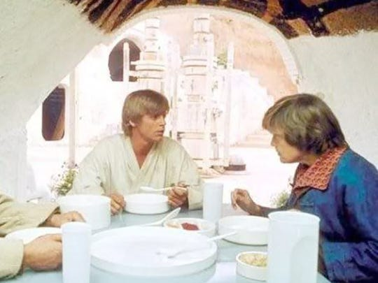 Blue milk is the staple of a growing Jedi Master's breakfast.
