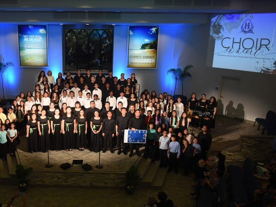 Harvest Christian Academy's Spring Fine Arts Series featured Choir on April 20, Band on April 27, and Orchestra Concerts on May 4 along with a Ukulele Recital on May 7. Over 250 students in upper elementary through high school showcased their instruments and voices.