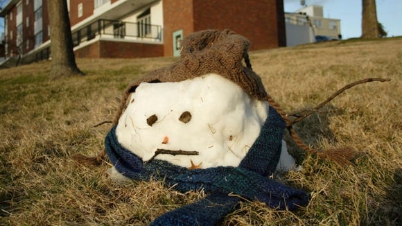 There wasn't even enough snow to make a real snowman in the most recent storm to hit Delaware.