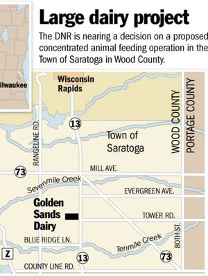 The Wood County site would have 5000 cows.