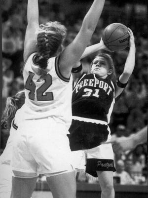 Lindsay Werntz (31) was a four-time all-conference point guard for Freeport who helped the Pretzels to a pair of third-place finishes in state in Class AA. The Pretzels were 111-16 in her four years as a starter.