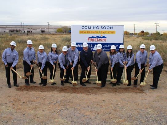 FirstLight Credit Union officials break ground on new
