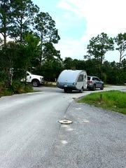 Lightweight teardrop campers provide convenient amenities.