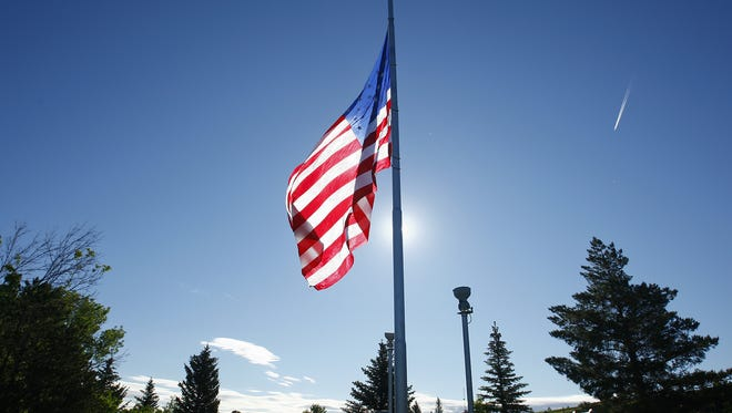 The U.S. Flag Code gives a general set of rules for how to display the flag.