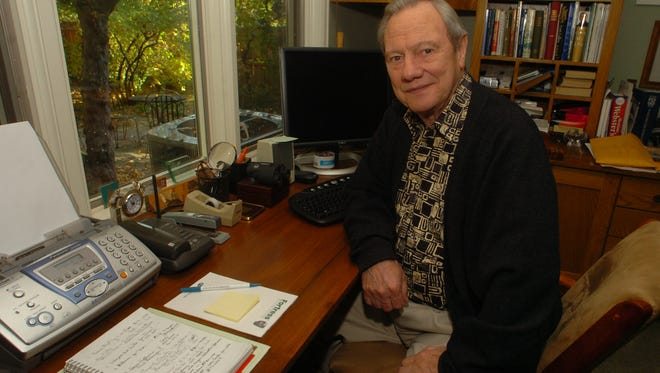 Local philanthropist Tom Sutherland sits in his office Monday Oct. 29, 2007.