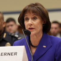 Former Internal Revenue Service official Lois Lerner speaks on Capitol Hill in Washington, Wednesday, March 5, 2014, during the House Oversight and Government Reform Committee hearing on the the agency's targeting of tea party groups, where she invoked her constitutional right not to incriminate herself.
