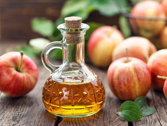 Vinegar, such as apple cider vinegar, is essential
