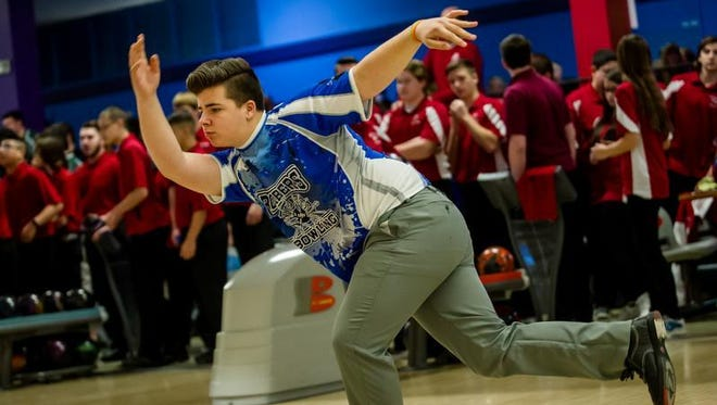Sayreville's Lucas Leandro competes in the Winter Bowling Classic at Carolier Lanes in North Brunswick on Jan. 9, 2016.
