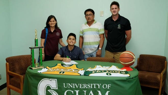 Brothers, Aaron and Anthony Castro signed letters of intent with the University of Guam Men's Basketball team.
