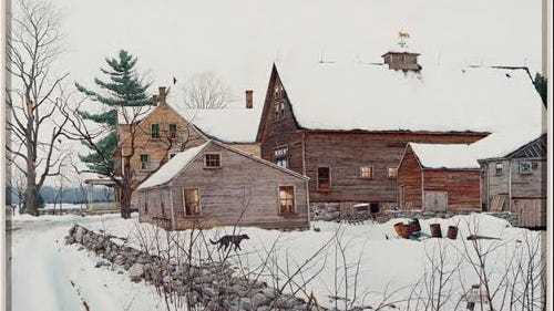 """Home"" by Loring W. Coleman, Sterling, Massachusetts, 1982, 2003, watercolor. Anonymous Gift (2017)."