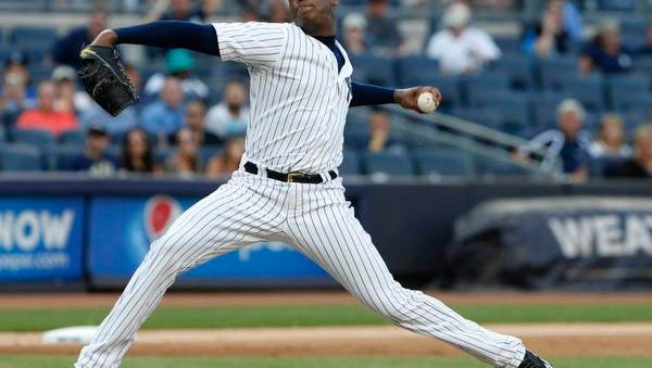 The Yankees traded closer Aroldis Chapman to the Chicago Cubs on Monday.