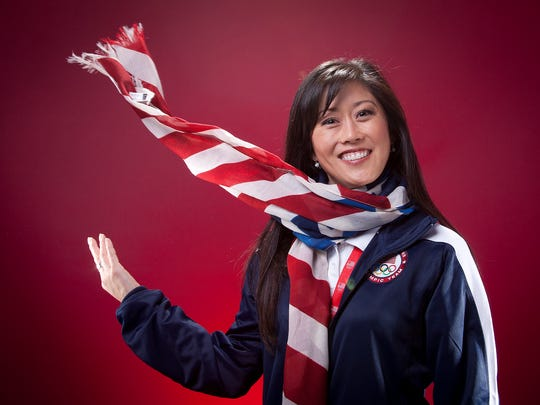 Former United States Olympic Winter Games skater Kristi Yamaguchi poses for a portrait at the 2013 Team USA Media Summit on Monday, September 30, 2013 in Park City, UT. (AP Photo/Carlo Allegri)