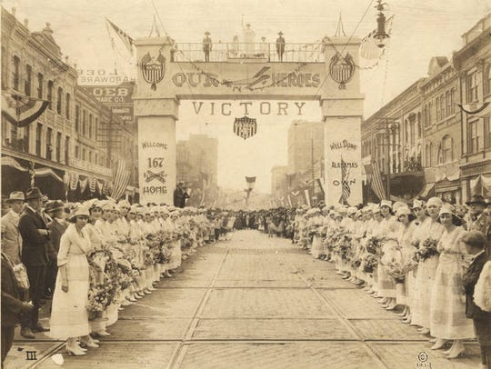 World War I victory parade for the 167th Infantry regiment