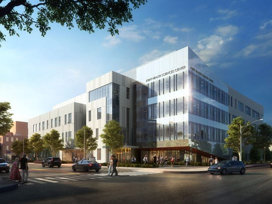 A rendering shows the new Rutgers-Rowan Joint Health