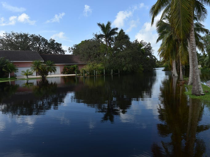 Water from North Fork of the St. Lucie River rises
