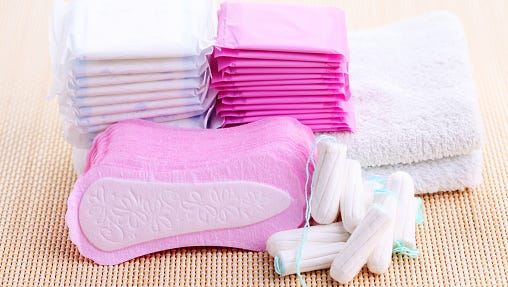 Women spend on average $70 to $80 each year on feminine hygiene products.