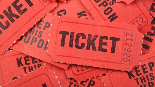 Group of Raffle tickets background Stock image