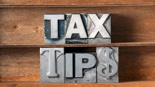 tax tips tray