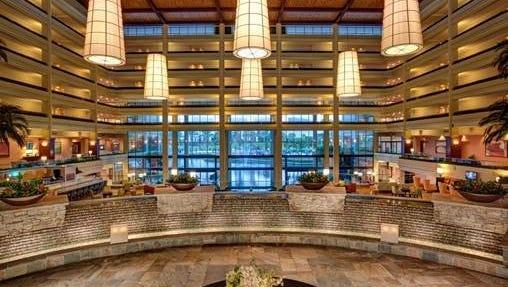 The lobby area of the JW Marriott Desert Springs Resort & Spa in Palm Desert.