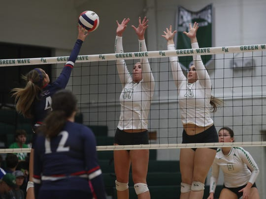 Fort Myers takes on Estero in the District 7A-11 volleyball championship at Fort Myers High School on Thursday, October 19, 2017.