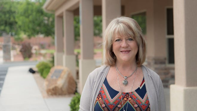 Patricia Sheffield, former director of the Washington County Children's Justice Center, stands outside the building she helped build in St. George through her vision and leadership.